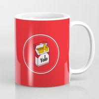 cigarettes Mugs featuring YOLO Cigarettes  by RJ Artworks