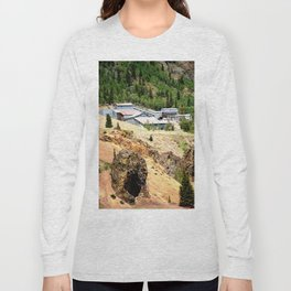 Mayflower Gold Ore Mill, on the Animas River above Silverton Long Sleeve T-shirt