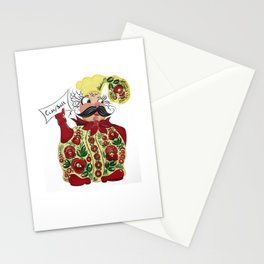 Little chef in petrykivka style Stationery Cards