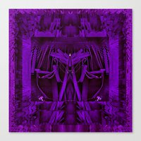 leather Canvas Prints featuring Leather Man by Pepita Selles