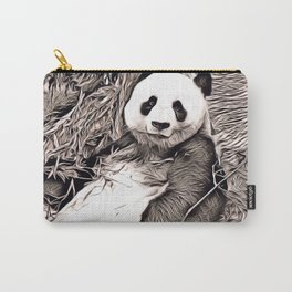 Rustic Style - Panda Carry-All Pouch