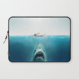 First And Last Swim Of The Day Laptop Sleeve