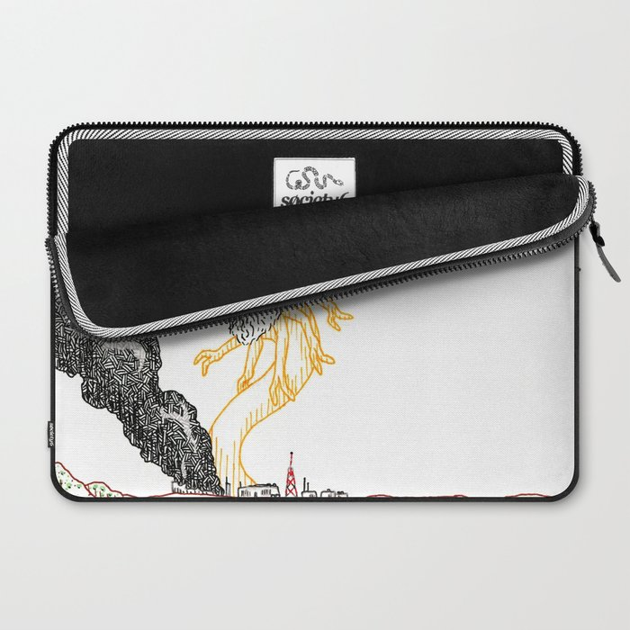 Explosion at the Labs Laptop Sleeve