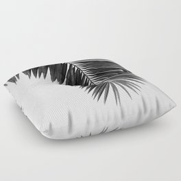 Palm Leaf Black & White I Floor Pillow