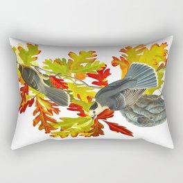 Vintage Canada Jay Illustration Rectangular Pillow