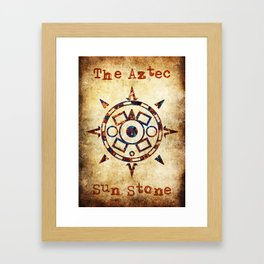 The Aztec sun Stone Framed Art Print