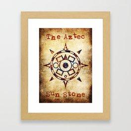 The Aztec sun Stone Framed Art Print