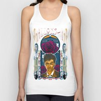 david tennant Tank Tops featuring Doctor Who, David Tennant Allons-Y 10th Doctor by Tom Ryan's Studio