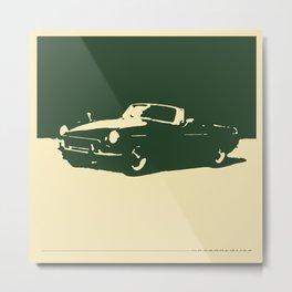 MGB, Racing Green on Cream Metal Print