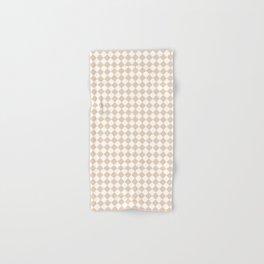 Small Diamonds - White and Pastel Brown Hand & Bath Towel