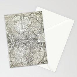 "World map ""Nova et integra universi orbis descriptio"" By Oronce Fine, dated 1532 Stationery Cards"