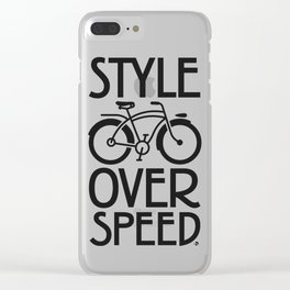 Style over Speed Clear iPhone Case