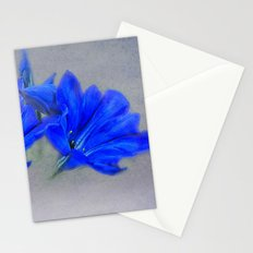 Painted Blue Gentians Floral Stationery Cards