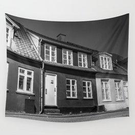 Charming houses, Aarhus Wall Tapestry