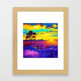 Tardis Art Starry Tree Framed Art Print