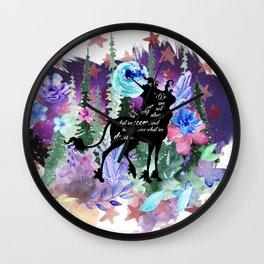 Last Unicorn Quote Wall Clock