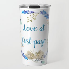 Love at first page Travel Mug