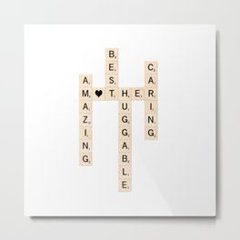 MOTHER's Day Scrabble Art Gift Metal Print