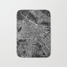 Amsterdam Black Map Bath Mat