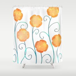Silly Poppies Shower Curtain