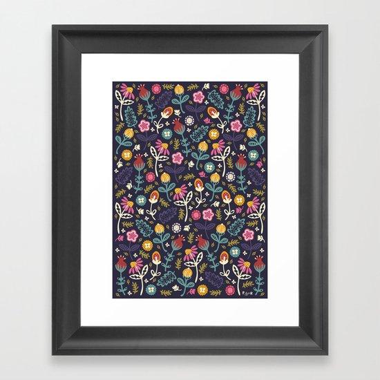 Ditsy Flowers Framed Art Print