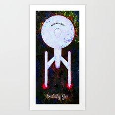 Boldly Go. Art Print