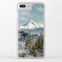Frosty Mountain - Nature Photography Clear iPhone Case