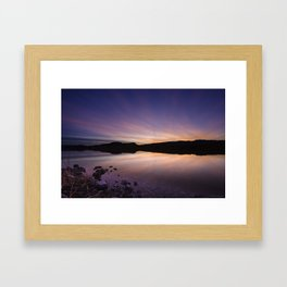 Pahranagat National Wildlife Refuge Sunset #2 Framed Art Print