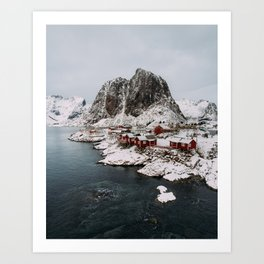 Winter in Hamnøy, Norway Art Print