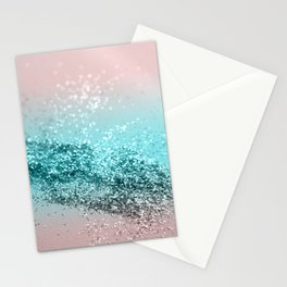 Tropical Summer Vibes Glitter #2 #decor #art #society6 Stationery Cards