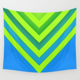 Sky & Lime Chevron Wall Tapestry