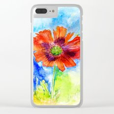 Papaver I Clear iPhone Case