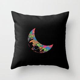 32 E=Colormoon Throw Pillow