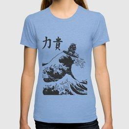 Samurai Surfing The Great Wave off Kanagawa T-shirt