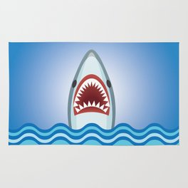 Cartoon Shark Rug