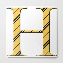 H for Hufflepuff Metal Print