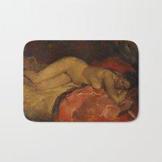 Reclining Nude by George Hendrik Breitner, 1887 Bath Mat