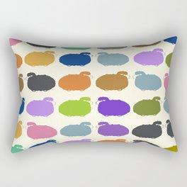 Colorful cartoon sheep pattern Rectangular Pillow
