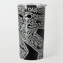 Dog inspired to Keith Haring Travel Mug