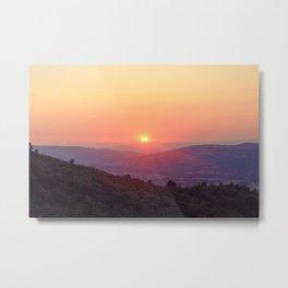 Sun in Luberon, South of France Metal Print