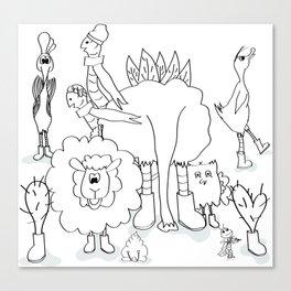 De Familie Canvas Print