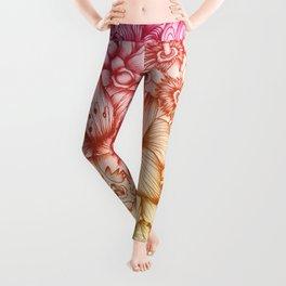 Tropical Flowers II Leggings
