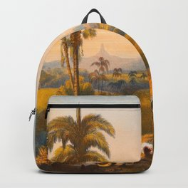Roraima Mountain Illustrations Of Guyana South America Natural Scenes Hand Drawn Backpack