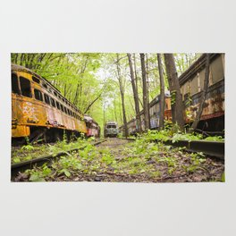 Abandoned Trolley Cemetery Rug