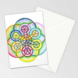 Fundamental Patterns of the Universe - The Rainbow Tribe Collection Stationery Cards