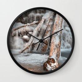 Frozen Avalon Falls Wall Clock