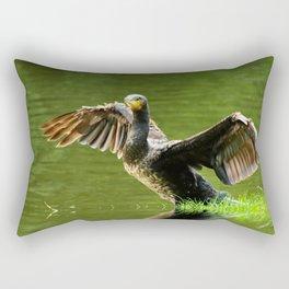 Cormorant flight Rectangular Pillow
