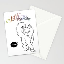 Kittens against patriarchy Stationery Cards