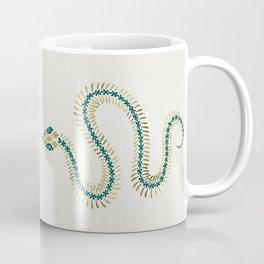 Snake Skeleton – Emerald & Gold Coffee Mug