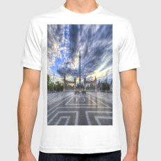 Heroes Square Budapest Mens Fitted Tee White MEDIUM